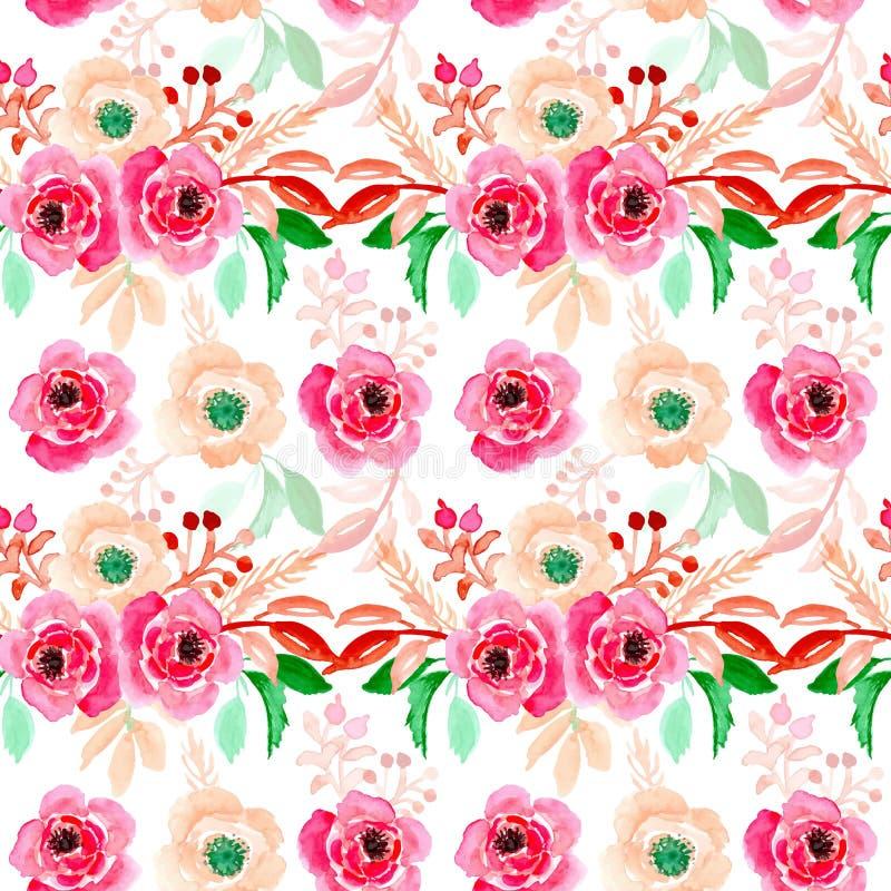 Картина иллюстрации безшовной акварели флористическая бесплатная иллюстрация