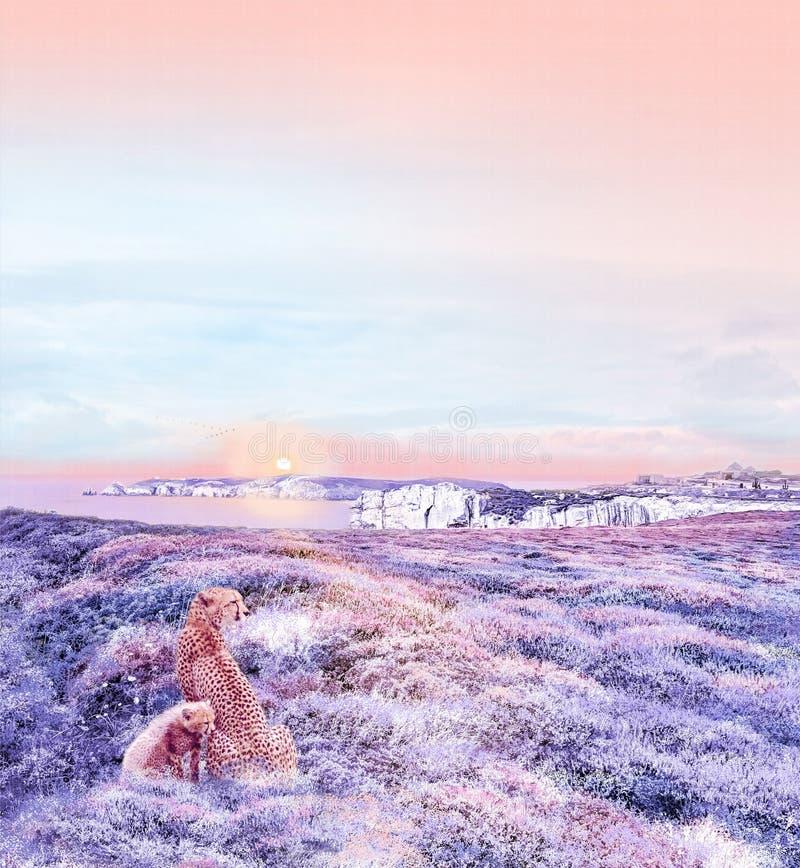 картина иллюстрации цветка в простой предпосылке стоковое фото