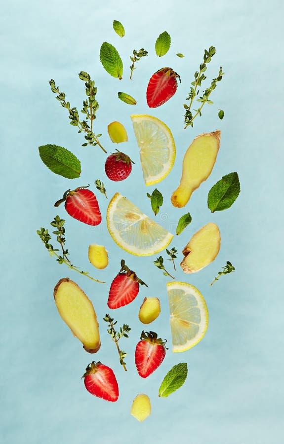 Картина ингридиента лимонада плодоовощ стоковое фото