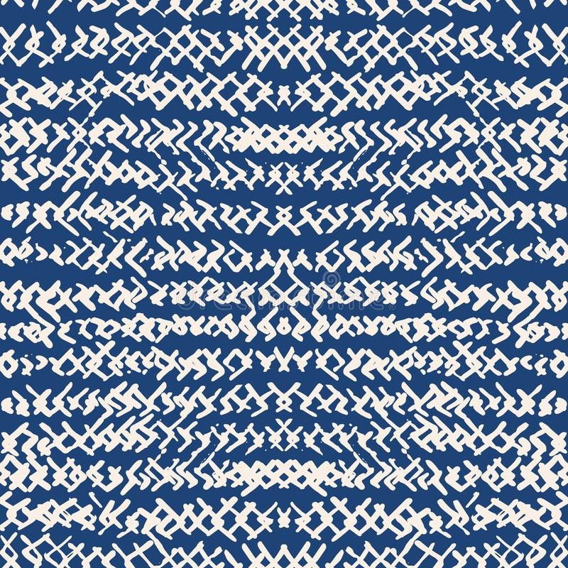 Картина индиго краски связи безшовная Печать shibori вектора японская бесплатная иллюстрация