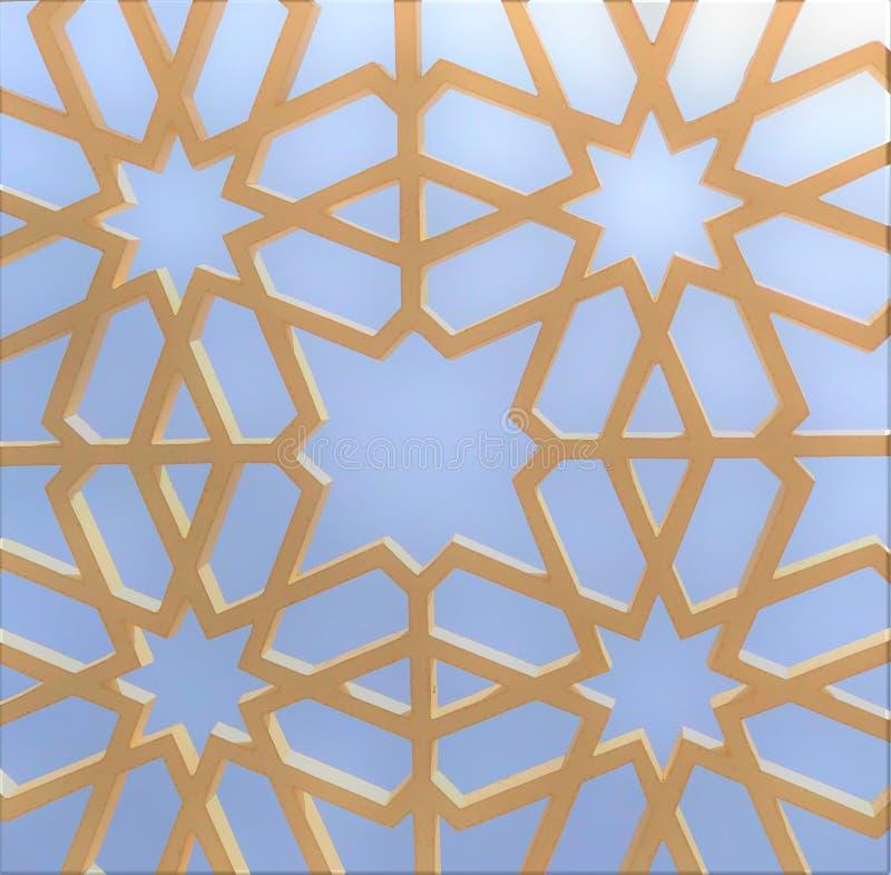 Картина исламской геометрии сизоватая стоковые фото