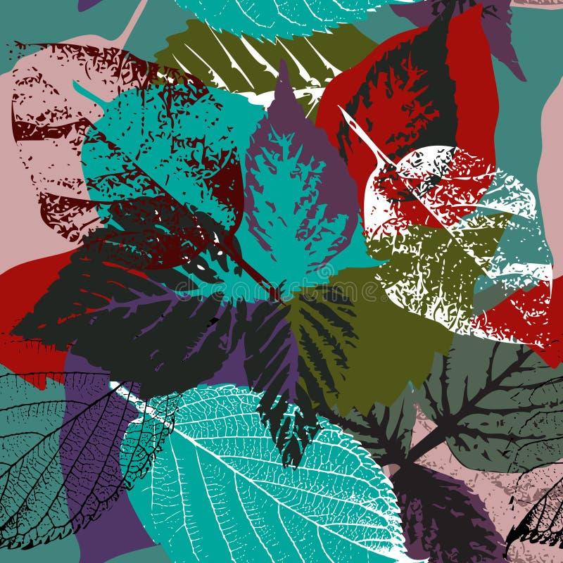 Картина листьев осени иллюстрация штока