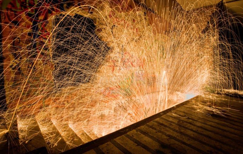 Картина и лестницы света спирали вортекса стальных шерстей стоковая фотография rf