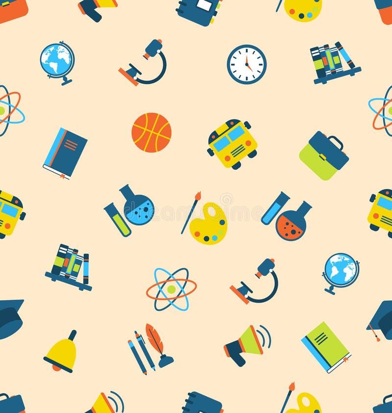 Картина иллюстрации безшовная с значками вопросов образования иллюстрация вектора