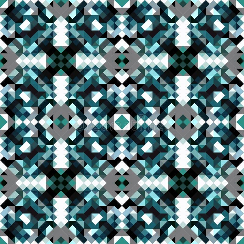 Картина картины небольших пикселов голубой геометрической безшовной бесплатная иллюстрация