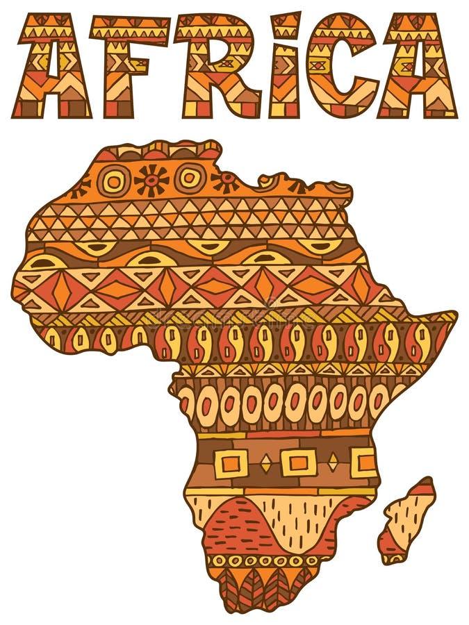 Картина карты Африки иллюстрация вектора