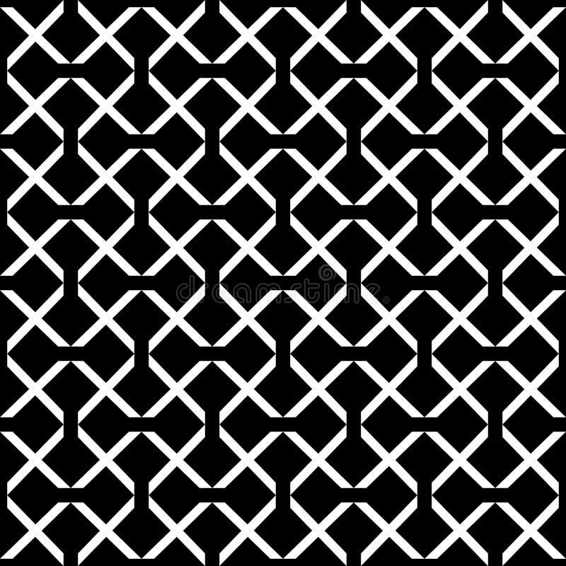 Картина квадратного вектора решетки безшовная Тонкая темная checkered предпосылка повторения, простой дизайн иллюстрация штока