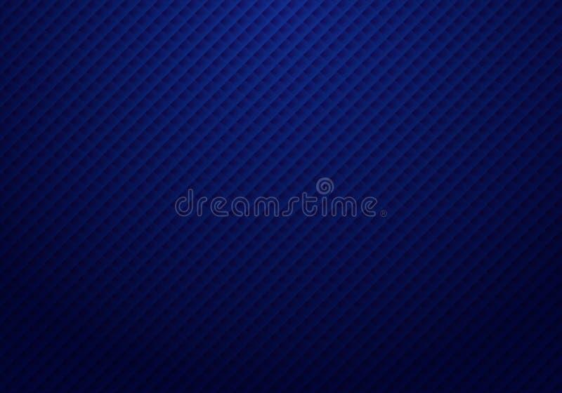 Картина квадратов конспекта 3D темно-синая повторяет striped предпосылку и текстуру со светлым роскошным стилем иллюстрация штока