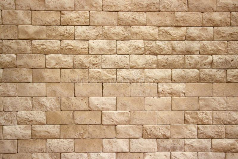 Картина кирпичная стена бежевого цвета стоковая фотография rf