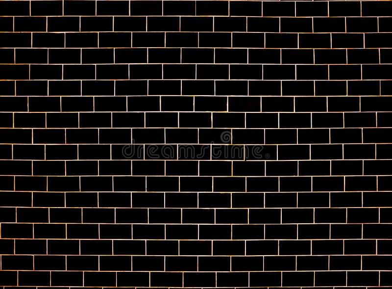 Картина кирпичной стены черная и серая поверхностная предпосылка Блоки и конструкция цемента Абстрактная текстура кирпичной кладк стоковая фотография