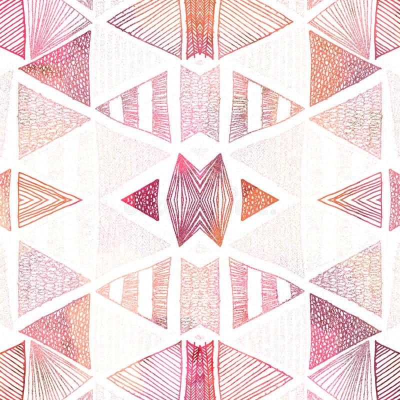 Картина классического повторения геометрии современная с текстурами иллюстрация вектора