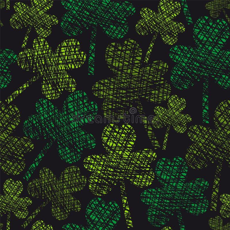 Картина клевера год сбора винограда дня St. Patrick безшовная бесплатная иллюстрация