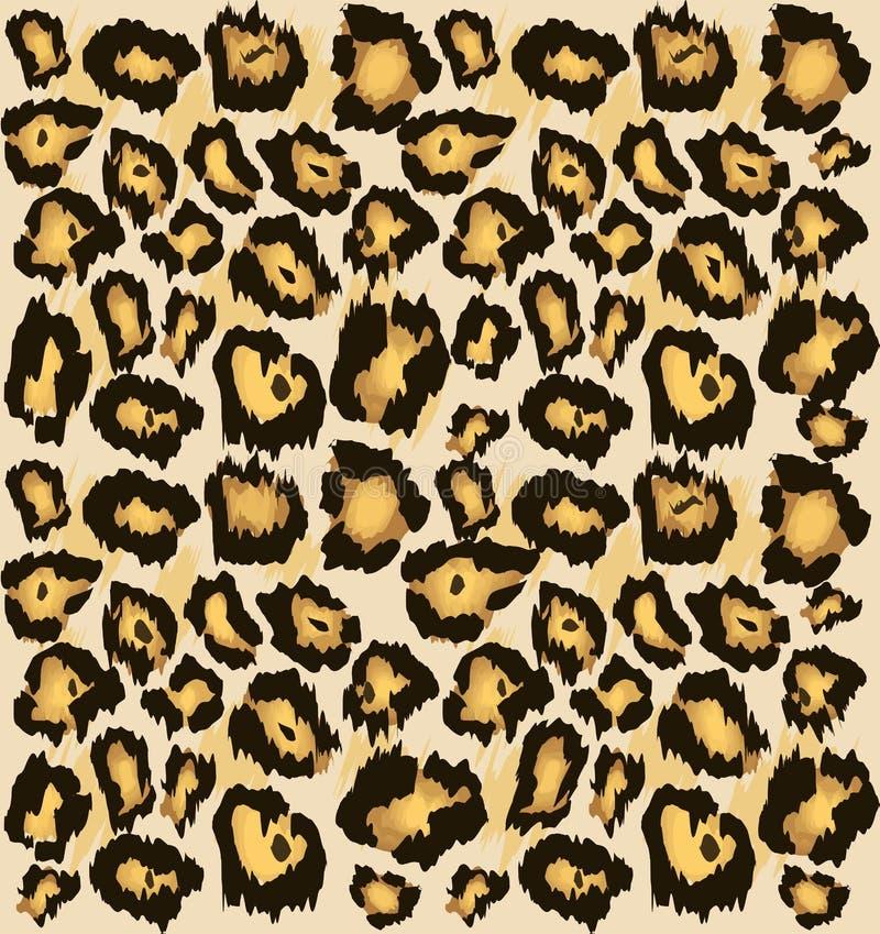 Картина кожи гепарда леопарда безшовная, Стилизованная запятнанная предпосылка для моды, печать кожи леопарда, обои, ткань иллюстрация вектора