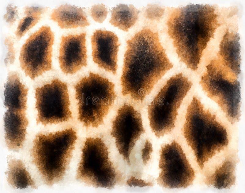 Картина кожи жирафа стоковая фотография