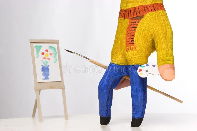 Download картина колеривщика малая стоковое изображение. изображение насчитывающей paintbrush - 6866491