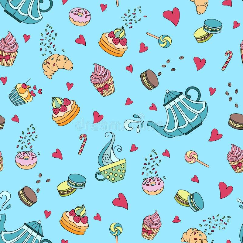 Картина комплекта чая бесплатная иллюстрация