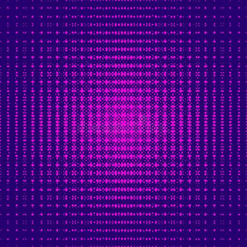 Картина конспекта вектора безшовная с увядая сеткой, сетью Радиальное влияние полутонового изображения бесплатная иллюстрация