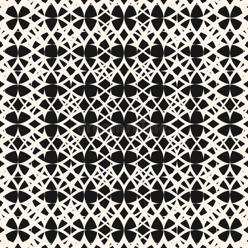 Картина конспекта вектора геометрическая безшовная с сеткой, сетью, соткет, ткань Радиальное переходной эффект полутонового изобр бесплатная иллюстрация