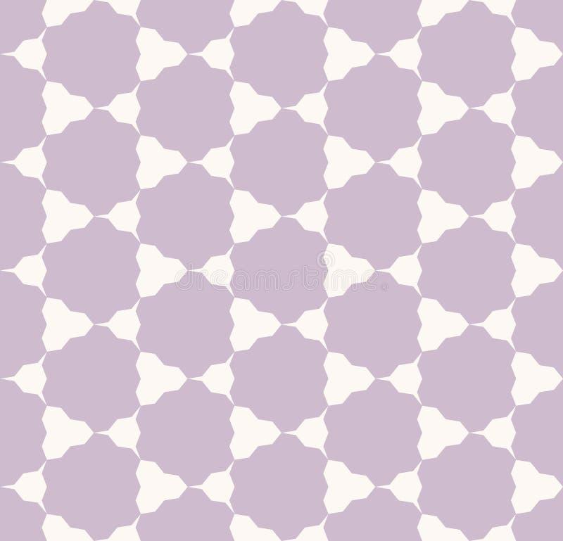 Картина конспекта вектора геометрическая безшовная с треугольниками, шестиугольниками, решеткой, сетью иллюстрация штока