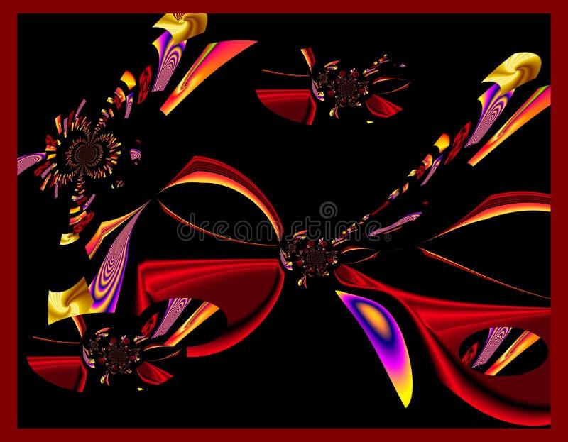 Картина конспекта искусства дизайна Grafik красочная изображает новое искусство стоковые изображения rf