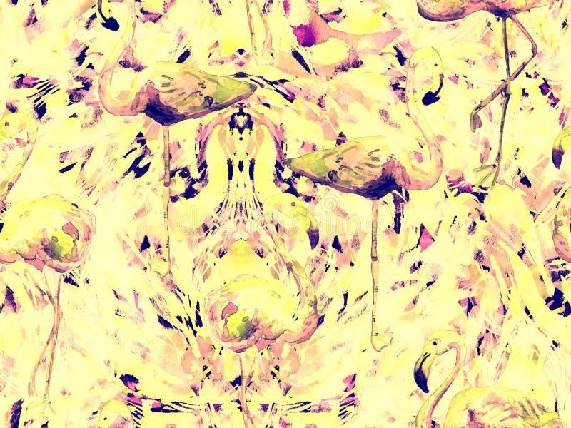 Картина конспекта калейдоскопа Boho безшовная иллюстрация вектора
