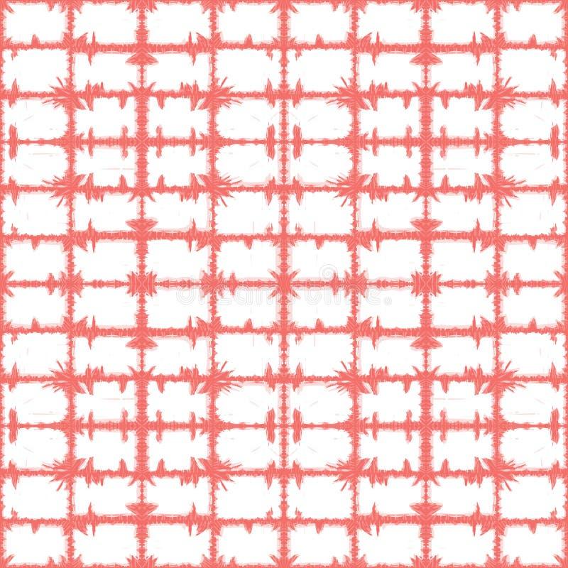 Картина конспекта решетки прямоугольников коралла вектора розовая Соответствующий для ткани, обруча подарка и обоев иллюстрация штока