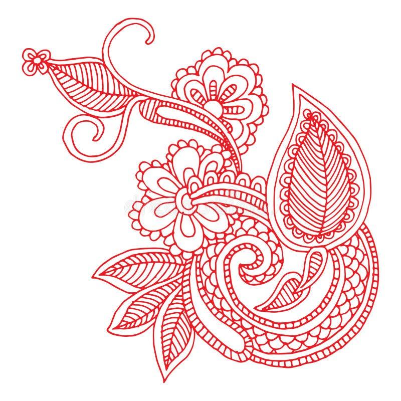 Конструкция вышивки Neckline иллюстрация штока