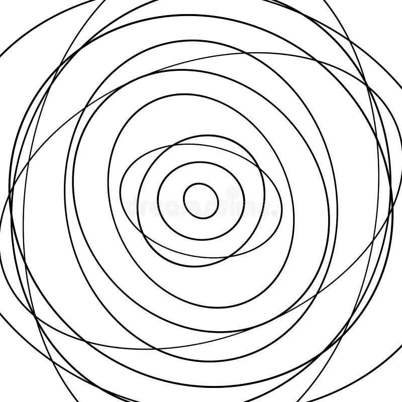 Download Картина концентрических кругов Абстрактное Monochrome-геометрическое Illust Иллюстрация вектора - иллюстрации насчитывающей концентрическо, излучать: 81806806