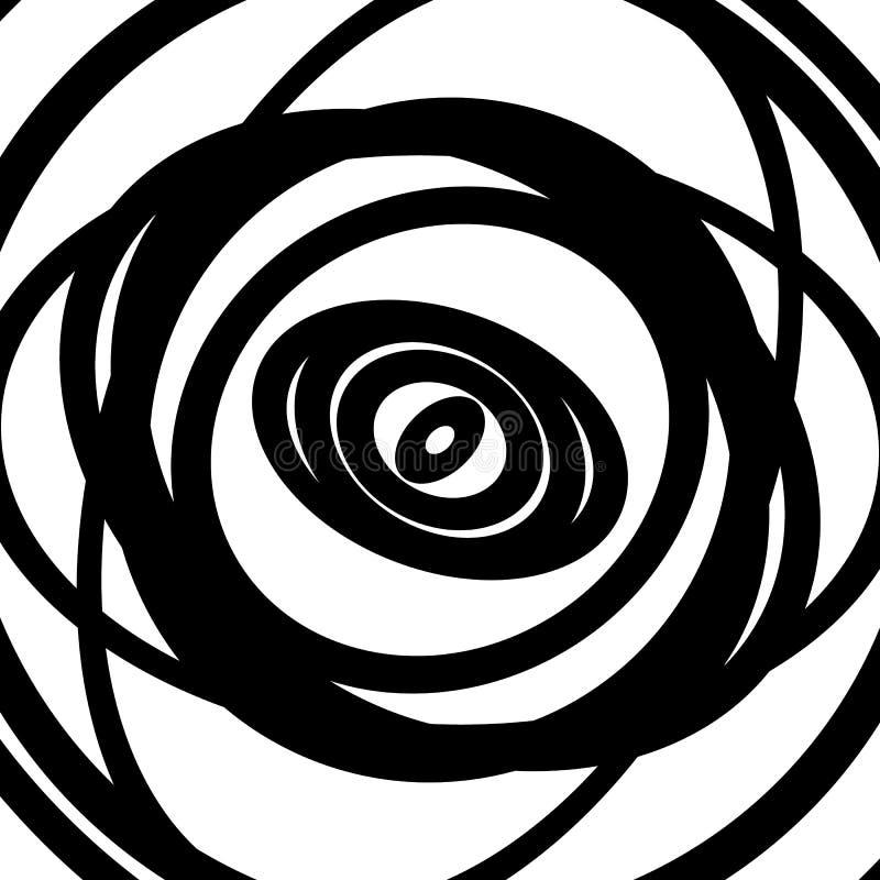 Download Картина концентрических кругов Абстрактное Monochrome-геометрическое Illust Иллюстрация вектора - иллюстрации насчитывающей радиально, минимально: 81806811