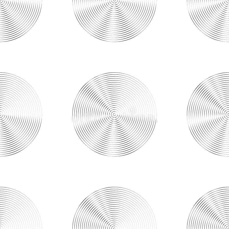 Download Картина концентрических кругов безшовная Monochrome Абстрактное Geometr Иллюстрация вектора - иллюстрации насчитывающей бесконечно, оптически: 81815301