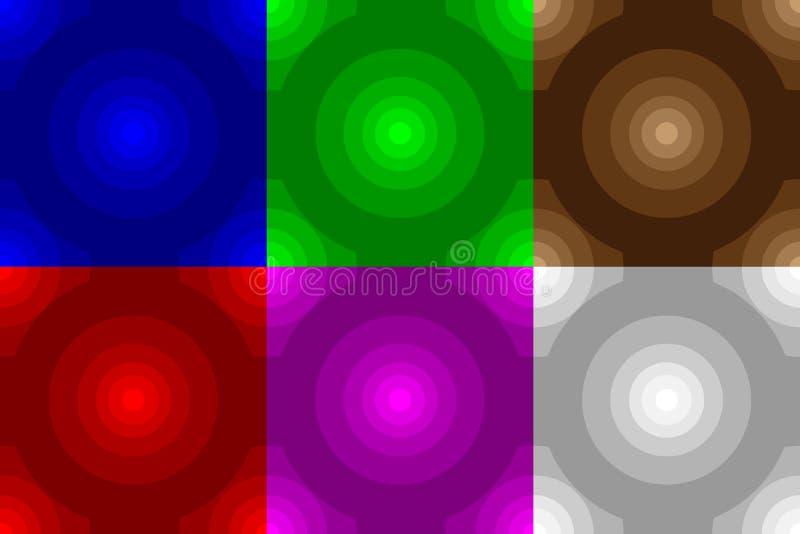Картина концентрического круга безшовная бесплатная иллюстрация