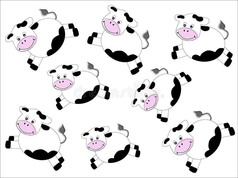 картина коров иллюстрация штока