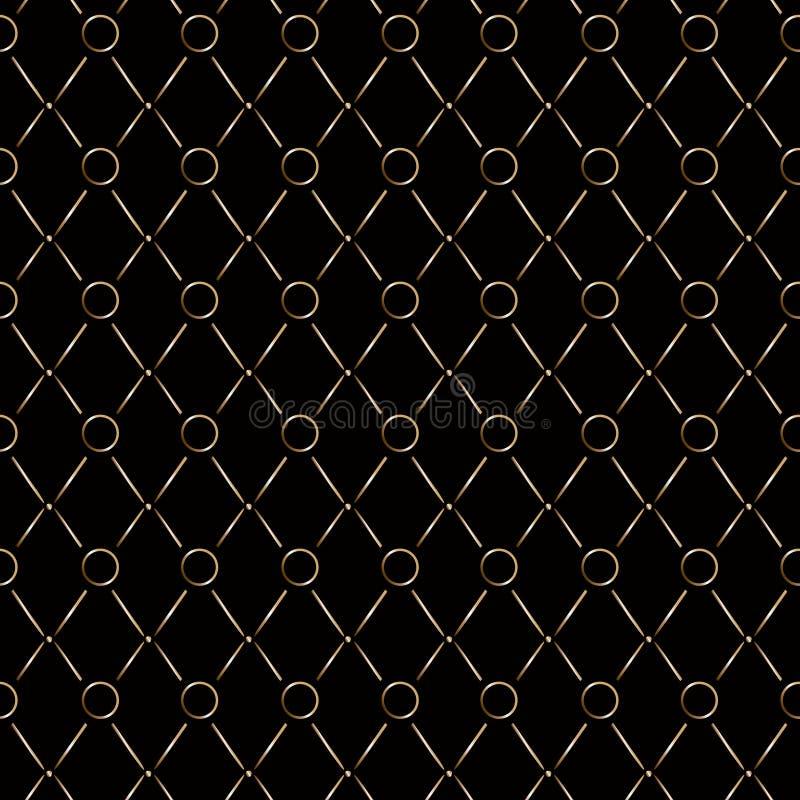 Картина косоугольника золотая безшовная королевская элегантная Предпосылка темной черноты цвета золота мягкая иллюстрация штока