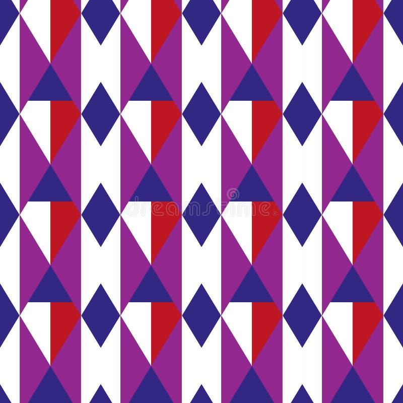 Картина косоугольника геометрическая безшовная Предпосылка клетки бесконечная Квадратная повторяя текстура Ультрамодный фон для т бесплатная иллюстрация