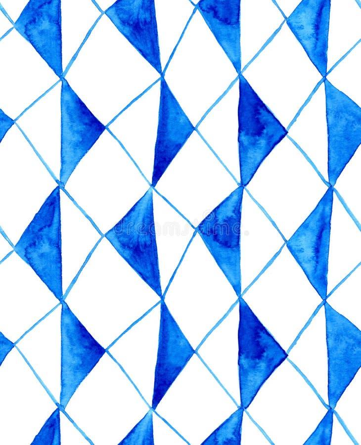 Картина косоугольников акварели деревенская голубая бесплатная иллюстрация