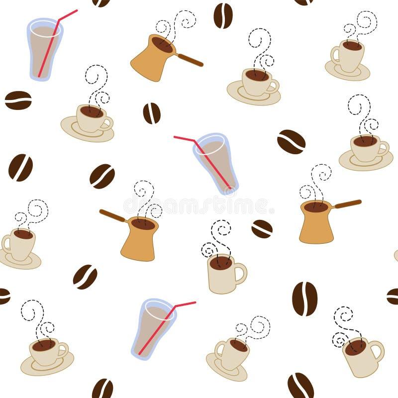 Download картина кофейных чашек иллюстрация вектора. иллюстрации насчитывающей кофеин - 15718777