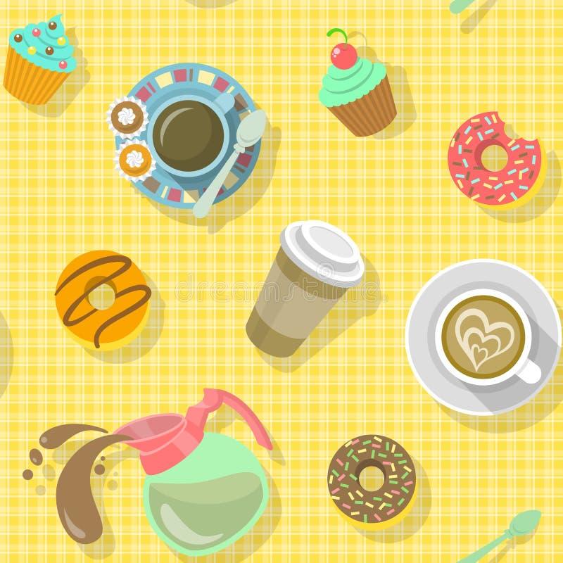 Картина кофе иллюстрация штока