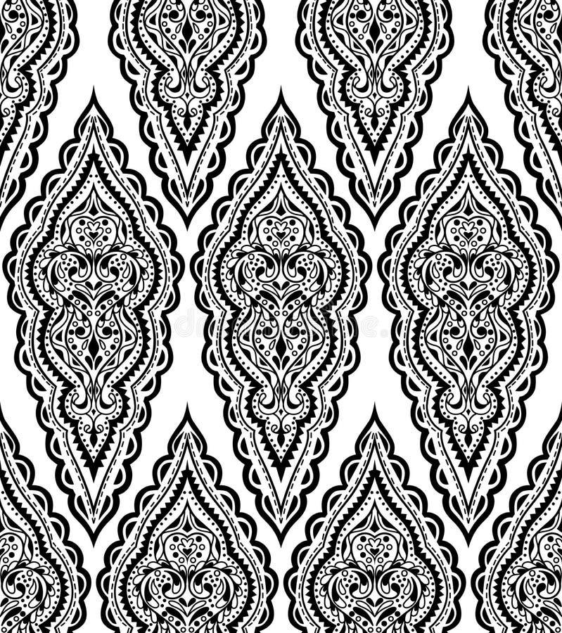 Картина красивого штофа вектора безшовная Винтажное абстрактное backg иллюстрация вектора