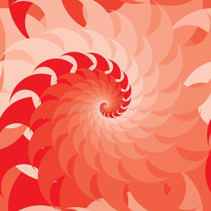 Картина красного стиля симметрии свирли безшовная иллюстрация штока