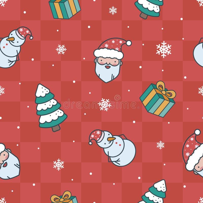 Картина красного цвета рождества шаржа бесплатная иллюстрация