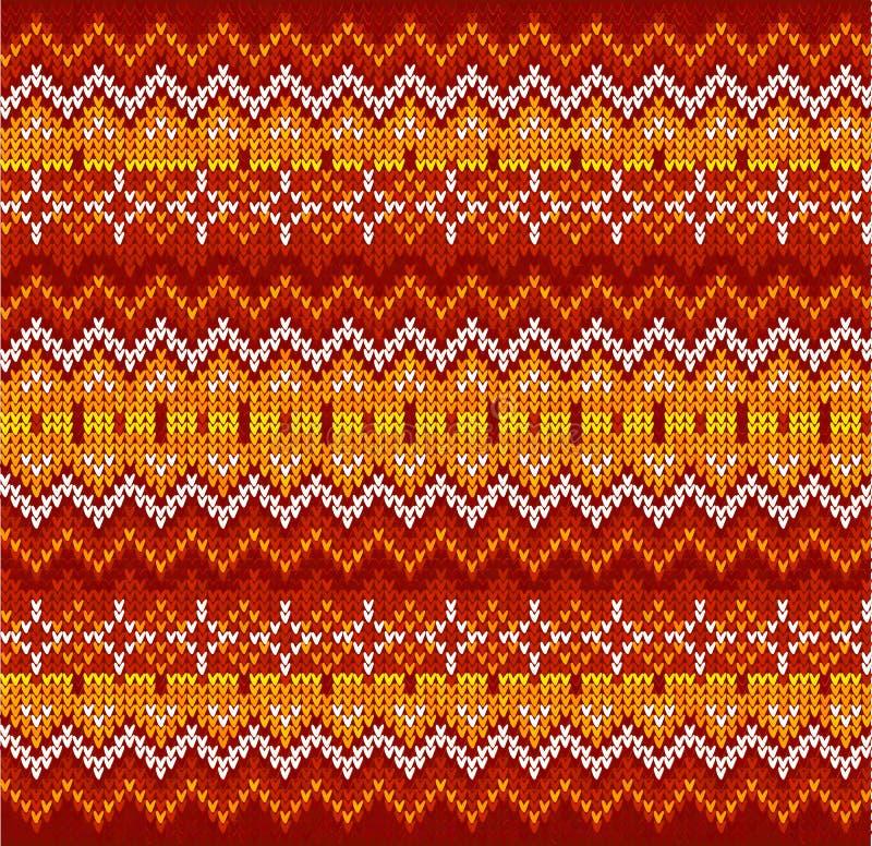 Картина красного knit вектора нашивок зигзага безшовная бесплатная иллюстрация