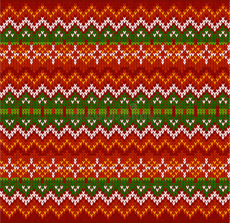 Картина красного knit вектора нашивок зигзага безшовная иллюстрация штока