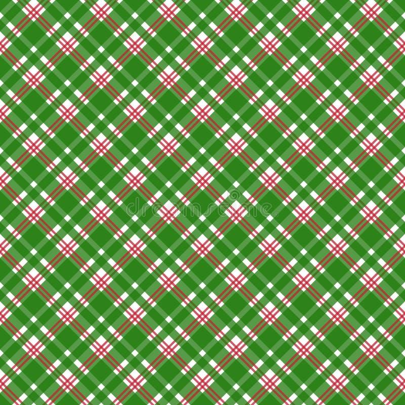 Картина красной и зеленой шотландки безшовная иллюстрация штока