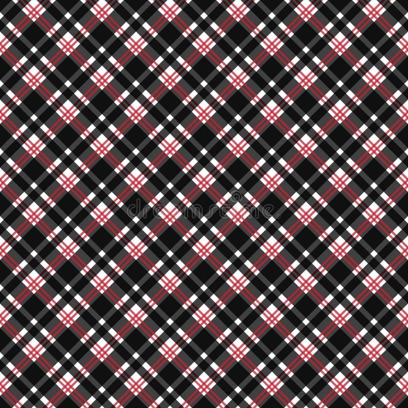 Картина красной и черной шотландки безшовная иллюстрация вектора