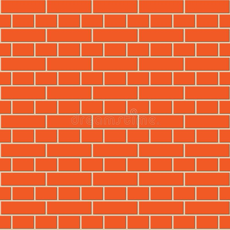 Картина красной кирпичной стены безшовная иллюстрация штока