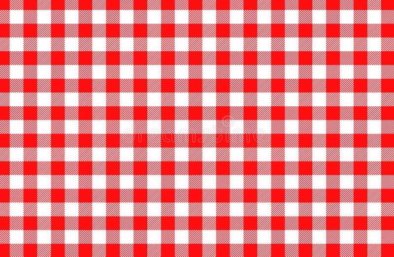 Картина красной предпосылки ткани таблицы безшовная E стоковые изображения rf