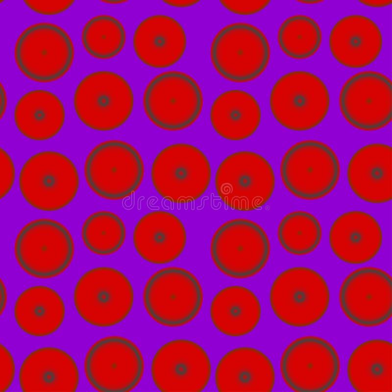 Картина красных кругов на фиолетовой предпосылке иллюстрация вектора