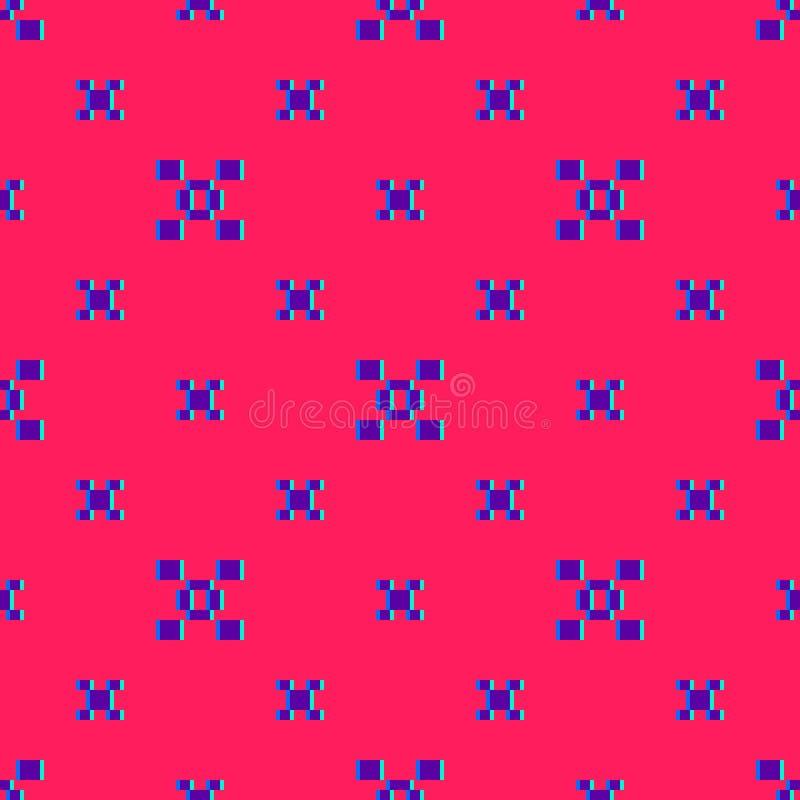Картина красочного конспекта вектора минимальная геометрическая безшовная с небольшими квадратами иллюстрация вектора