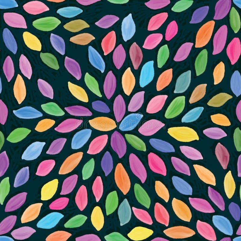 Картина красочного watarcolor лепестка лист безшовная бесплатная иллюстрация
