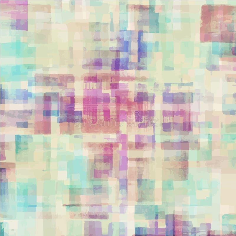 Картина красочной абстрактной акварели геометрической иллюстрация штока